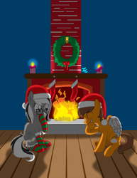 COMM -Holiday Fun by the Fireplace by marioking89