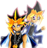 .::Yami and Yugi::. by Sonar15