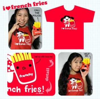 french fry shirt product pic by ilovegravy
