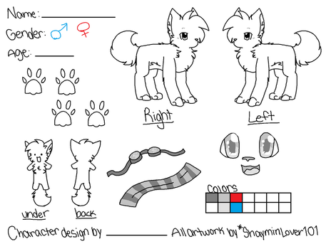 :Reference Sheet Template V2: by ShayminLover101