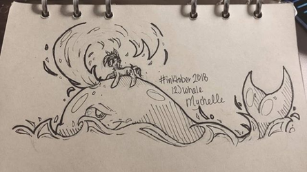 Inktober 2018: Day 12. Whale by Mychelle