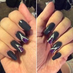 Geode nails by LadyCelticRose
