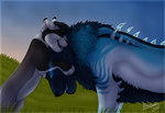 The Aetheri Cat and the Cub - YCH Result by P4ndora-L