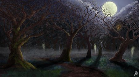 Dark Forest Path by Spacepretzel