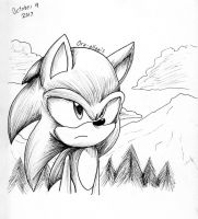 Inktober #9 In the Mountains by Ora-Allagis