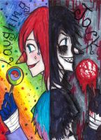 laughing jack, two faces by NENEBUBBLEELOVER