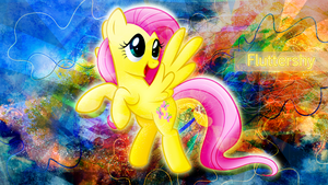 Fluttershy Wallpaper thingy x3 by CKittyKat98