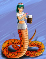 Hello Snake Nurse (Commission) by Lady-of-Mud