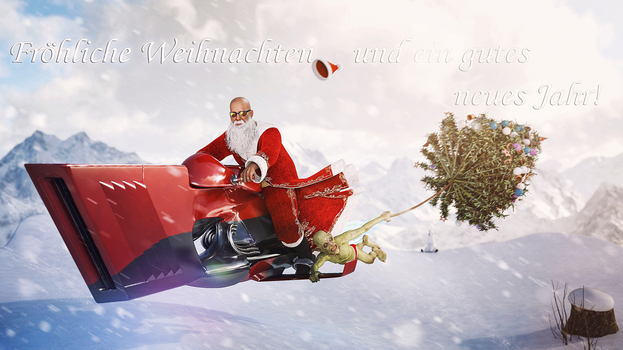[DAZ3D] - Merry Christmas and Happy New Year by PSK-Photo
