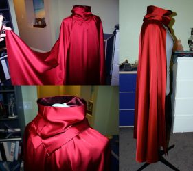 Scarlet Witch progress - cape and cowl finished! by strikes-twice