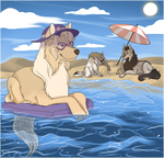 [Collab] Day at the Beach by Eaglidots