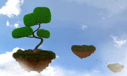 Zbrush Doodle: Day 1322 - Floating Voxel Islands 3 by UnexpectedToy