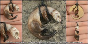 Ferret Necklace by Chaotica-I