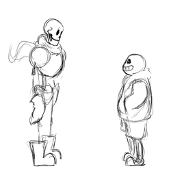 Sans and Papyrus Fusion (Comic Papyrus) by Risingsmoke