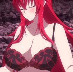 Rias Gremory Shamefully Takes off her Bra by PerryThePervySage