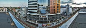 Rooftop Panorama 180 by alekparkour