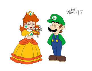 Luigi's Mini Present for Princess Daisy by ZacharyNoah92