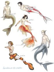 Hetalia Merpeople AU by dorodraws