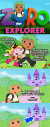 Zoro the Explorer by CharlieNozaki