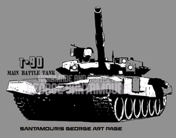 T-90 Mbt Russian Comic Edition by SANTAMOURIS1978