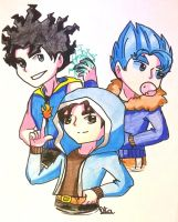 Young three wizards by Aligamer005
