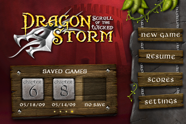 Dragonstorm game UI by ChristianKarling