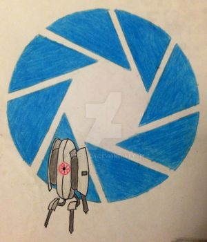 Aperture Logo With Turret by EnderMew