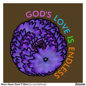 Abstract Flower Spiral GODS LOVE IS ENDLESS by Writtensouls