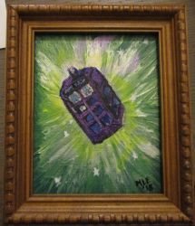 Framed Travelling Tardis by dragondoodle