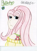 Humanized Fluttershy by The1King