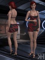 Jane Shepard Red Dragon Dress (XPS) by Grummel83