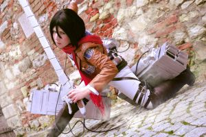 Attack on Titan Mikasa Cosplay by K-I-M-I