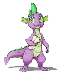 Spike Portrait by MyLittleSonic