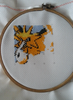 Generation 1 Cross Stitch WIP by GormKitty