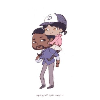 Lee and Clem by spicyroll