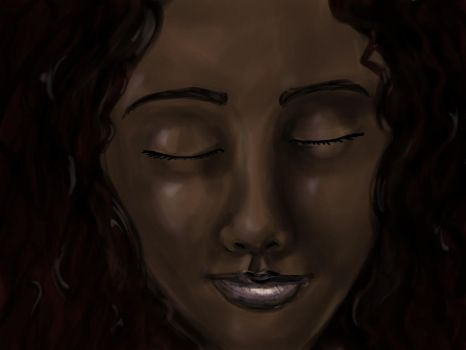 Digitally Painted face by Natnie