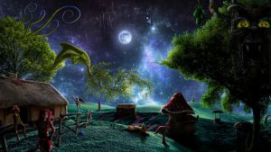Nocturnal Gathering in the Countryside by jesus-at-art