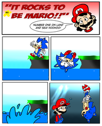 It Rocks to be Mario: Swimming by RedHairShay