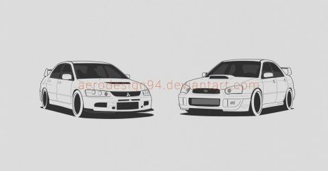 EVO and STI by AeroDesign94