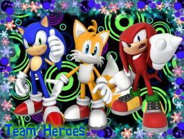 Team Heroes (Sonic, Tails and Knuckles) by YellowMilesX