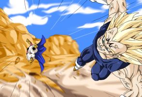 Vegeta Majin Vs Boo by Sersiso