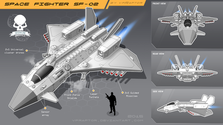 Space Fighter SF-02 by vpRaptor