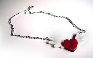 Locked Heart Pendant by Alecat