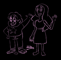 Steven and Connie pink sketch by iedasb