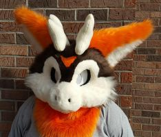 Fall Dutch Angel Dragon Head (premade) by Kawaii-fur-costumes
