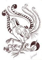 Lyrebird Tattoo Design by LyrebirdJacki
