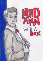 Mad man with a box by aliceazzo