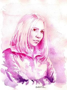 Watercolours Are Cool - Rose Tyler by Gohush