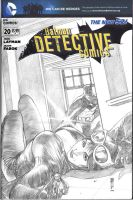 Detective Comics Blank Cover Sketch by Thegerjoos
