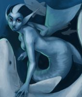 shark mermaid by wegs